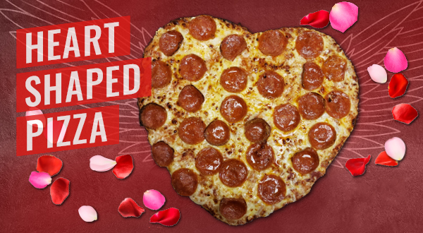 Heart Shaped Pizza Cottage Inn